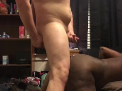 Big Ass Black Girlfriend Takes White Cock