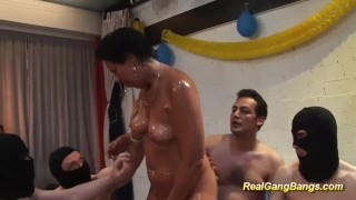 Stepmom oiled party with swinger tits realgangbangs