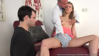 Fucked in front jillian of janson gets man by real husband cuckold shaved