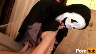 Special  halloween scene on mother