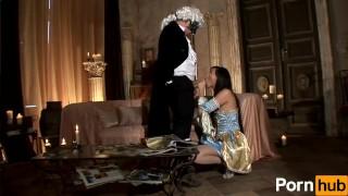 The sex in scene castle  tongue tits