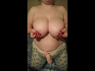 huge natural tits neighbor gives show as birthday present