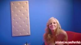 Sexy Milf Julia Ann in Strip Tease & Solo!