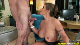 Tits reality her milf shows huge kings off office huge