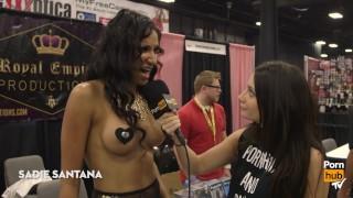 Pornhub Aria at eXXXotica 2015 Interviews Day 2
