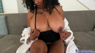 Big tits flaunts naturals huge danni her fucking ebony