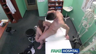 Fakehospital paid blowjob technician with spying nurse