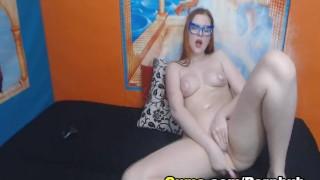 slutty blonde masturbating 3
