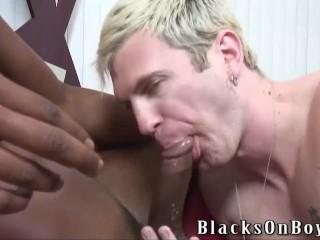 Biracial gay sex