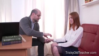 Sandra tricked by tricky her sex teacher into old teacher gets perverted sandra in
