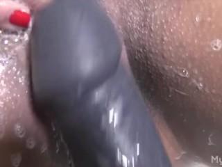 Big Clit Big Dildo Masturbation