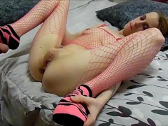 Pussy licking with a vibrator Milf sucks hot CD TS cock