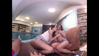 BaDoinkVR 180 -  Rub-A-Dub Love: Felicia Kiss & Athina