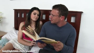 Seduces slut teen her private tutor brunette young