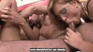 Shemale slut shemale fucks stud and a fest fuck a sexy girl shemalefuckfest