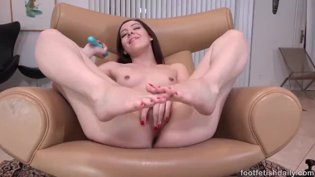 Daily erotic video - Ember stone - foot fetish masturbation