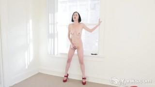 Rita masturbating busty manicured little