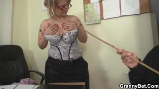 Office mature in white stockings riding his rod Risky sea