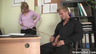 Office mature in white stockings riding his rod Dick upherasshole