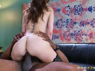 Riely Reid sucks some big black cock - Brazzers