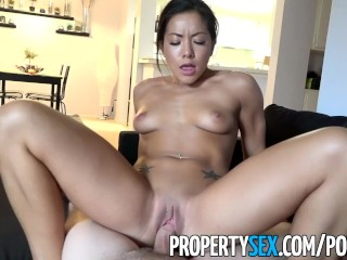 PropertySex - Thieving Asian real estate agent fucks her way out of trouble
