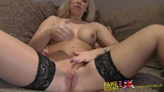 Shaven fakeagentuk pussy desk tight fucked over nice interview