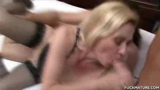 Some cum after the in mature mouth a gets shaved 3some