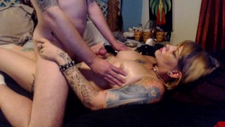 Finale with creampie massage dick ass