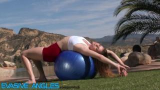 Evasive Angles - White Girl Workout Tease Bbc babe