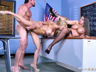 Parent teacher threesome – Brazzers
