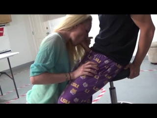 Surprised him in the garage with a blowjob - OurDirtyLilSecret