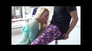 Him in blowjob surprised a with garage the ourdirtylilsecret sloppy swallow