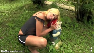 And penis tits naughty shemale exposes tiny outdoors blonde milf tits
