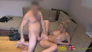 FakeAgentUK Hot Dutch model fucked in the arse