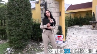 PropertySex - Hot Latina real estate agent fucks her client like a pornstar Adult lesbian