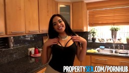 PropertySex - Hot Latina real estate agent fucks her client like a pornstar