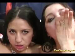 lesbian teens in real gangbang orgy