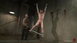 Play puppy tape domination duct and boundgods flogging