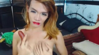 Two Horny Shemales Playing Dirty on Cam