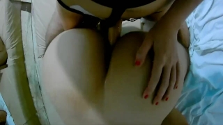 My time the with first strapon pegging for boyfriend fuck ass