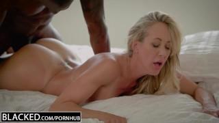 BLACKED Cheating MILF Brandi Love's First Big Black Cock German brunette