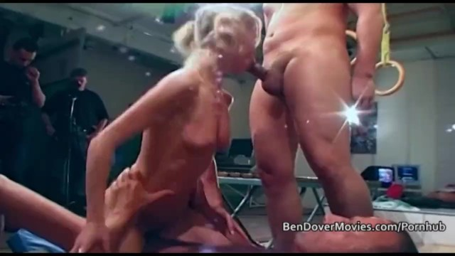 Petite blonde assfucked and takes facials from 3 men 3