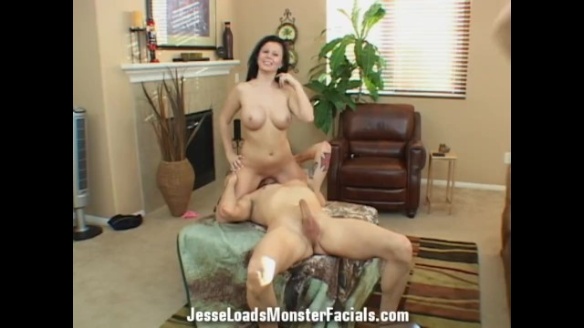 Complete Behind the scenes footage Loni Evans guzzles up some cum 10
