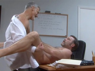 Silver Daddy Paul Barbaro Fucks Hunky Delivery man Trey Walker