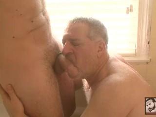 Beefy daddy luciano gets boy marcel...