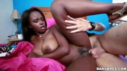 Ebony Lesbian First Cock Experience!