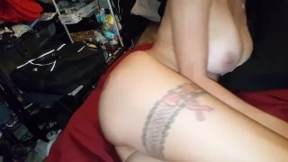 My pussy getting stretched - Creampie, gaping, huge dildo, some anal, Lydia