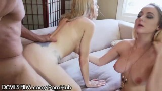 Trash Talking Wife and Mistress Catfight over Cock