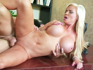 Hot and wet sexy blonde fucks doggystyle!