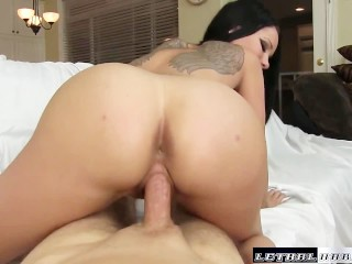 Raven Bay gets creampie facial hardcore fuck